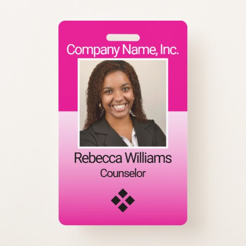 Employee Picture Badge _ Pink
