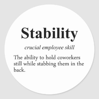 Employee stability is an important metric (2) classic round sticker