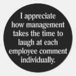 Employee Suggestion Box Classic Round Sticker