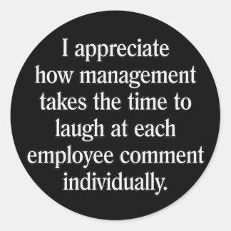 Employee Suggestion Box Round Sticker