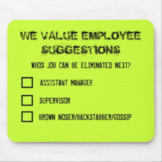 Employee Suggestions Mousemat Mouse Pad