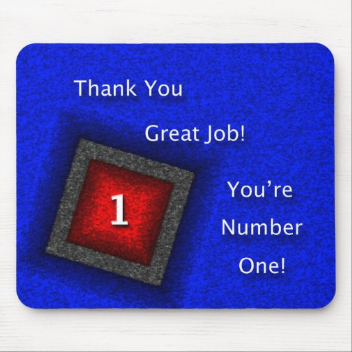 Employee Thank You Great Job Mouse Pad