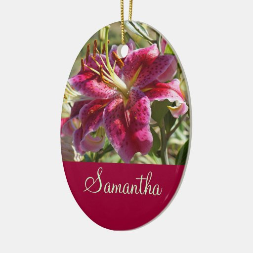 Employee's Name Hang custom Ornaments Office Lily
