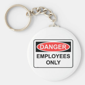 Employees Only Basic Round Button Keychain