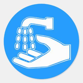 Employees Wash Hands Round Stickers