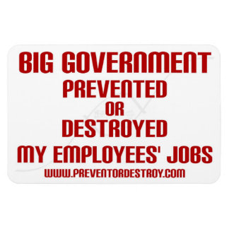 Employer Prevent or Destroy Bumper Magnet