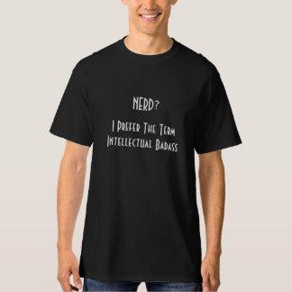 Empollón?. Camiseta negra para hombre intelectual Camisas