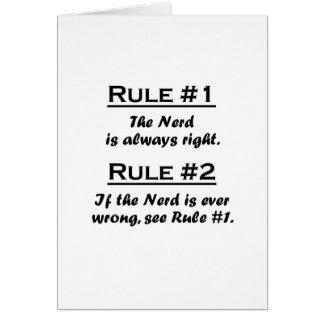Empollón de la regla tarjeta
