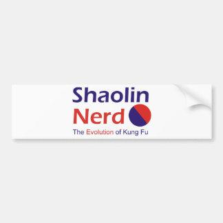 Empollón de Shaolin Pegatina De Parachoque