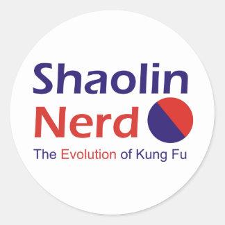 Empollón de Shaolin Pegatina Redonda
