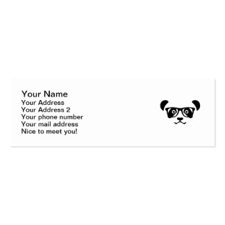 Empollón del inconformista de la panda tarjetas de visita mini