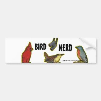 Empollón del pájaro etiqueta de parachoque