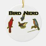 Empollón del pájaro ornaments para arbol de navidad