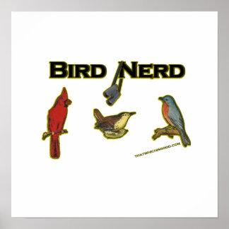 Empollón del pájaro impresiones