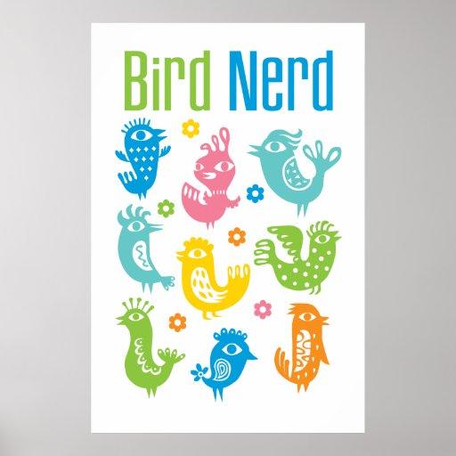 Empollón del pájaro - pastel póster