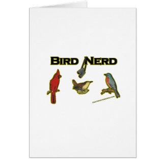 Empollón del pájaro tarjeta