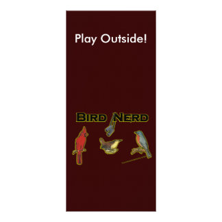 Empollón del pájaro tarjeta publicitaria a todo color