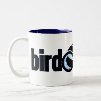 Empollón del pájaro taza de dos tonos