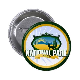 Empollón del parque nacional - desierto pin redondo de 2 pulgadas