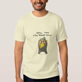 Empollón del pingüino de Linux Playera