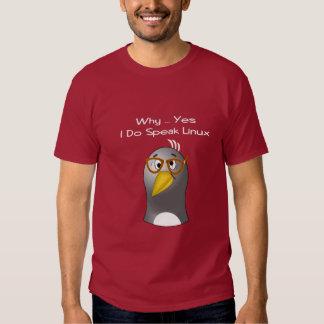 Empollón del pingüino de Linux Remeras