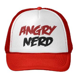 Empollón enojado gorras