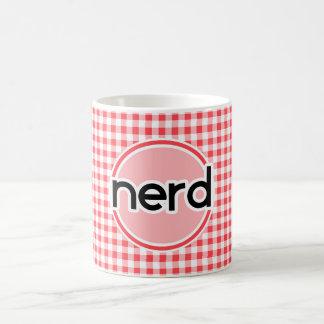 Empollón; Guinga roja y blanca Tazas De Café