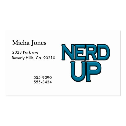 Empollón para arriba plantillas de tarjetas personales