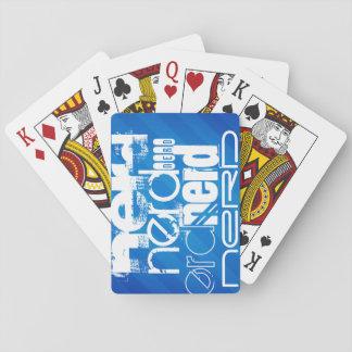 Empollón; Rayas azules reales Cartas De Juego