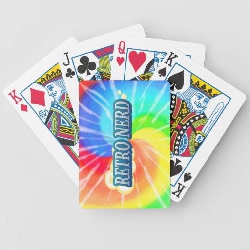 Empollón retro baraja de cartas