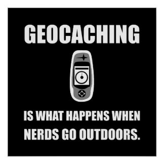 Empollones de Geocaching Póster