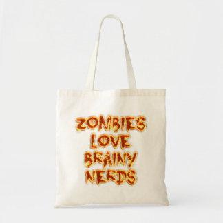 Empollones inteligentes del amor de los zombis bolsa