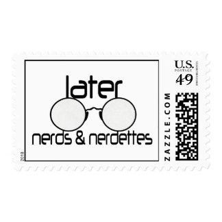 Empollones y lentes posteriores del espectáculo de sello postal