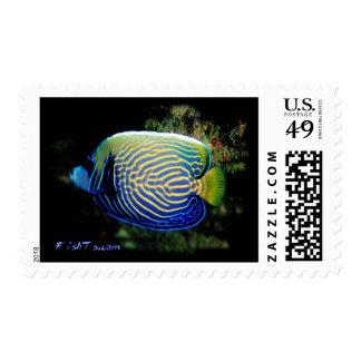 Emporer Angelfish Stamp