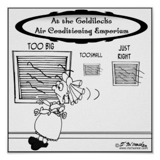 Emporio del aire acondicionado de Goldilocks Póster
