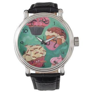Emporio mágico de volar las magdalenas Mustached Reloj De Mano