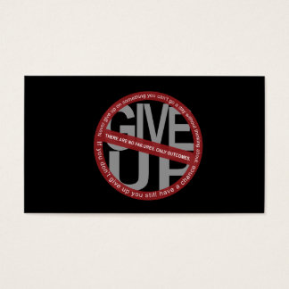 EMPOWER Cards-Don't Give Up Business Card