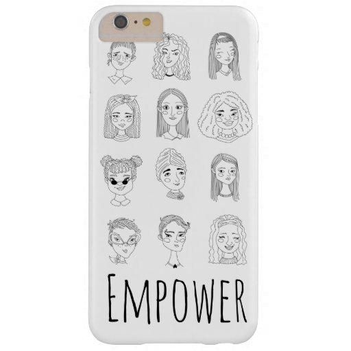Empower Ink Pen Feminist Doodle Drawing Barely There iPhone 6 Plus Case