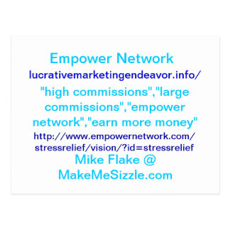 Empower Network card. Postcard