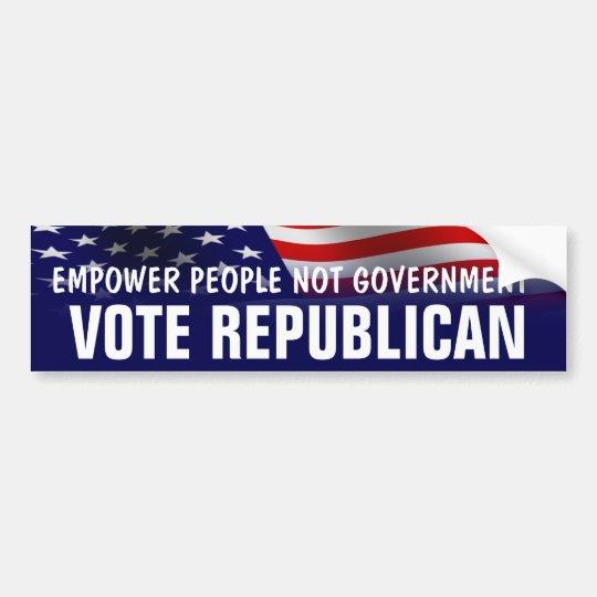 Empower People Vote Republican - Romney Ryan 2012 Bumper Sticker