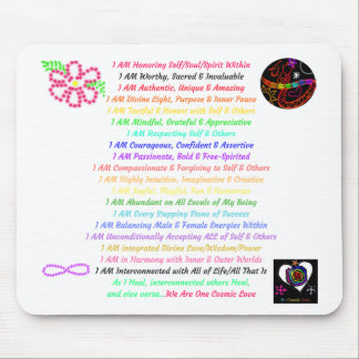 Empower-Self: Cosmic Affirmations Mousepad