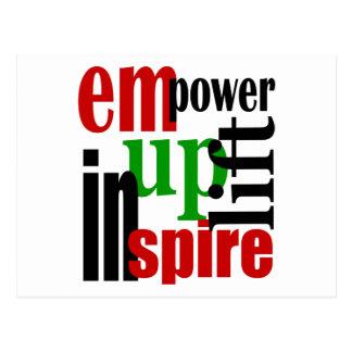 Empower, Uplift, Inspire Postcard