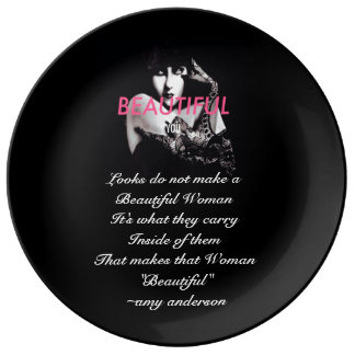 #EMPOWER Woman Classy Art Porcelain Plates