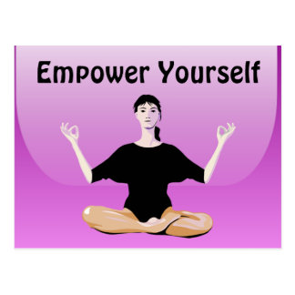 empower yourself postcard