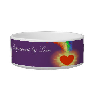"""""""Empowered by Love"""" Pet Bowl"""