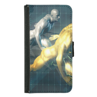 Empowered Individuals Racing to Upgrade Skills Wallet Phone Case For Samsung Galaxy S5
