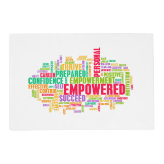 Empowered or Empowerment of Self as a Concept Laminated Placemat