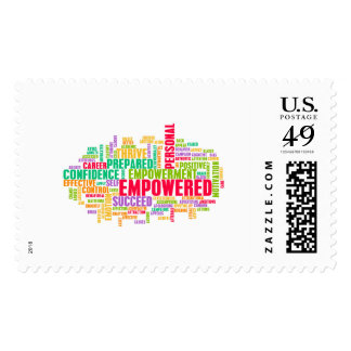 Empowered or Empowerment of Self as a Concept Postage Stamp