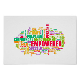 Empowered or Empowerment of Self as a Concept Poster