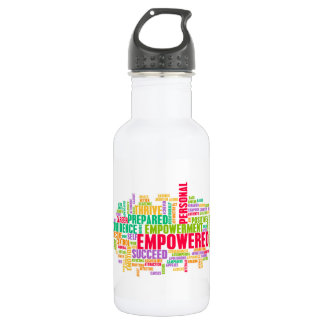 Empowered or Empowerment of Self as a Concept Water Bottle